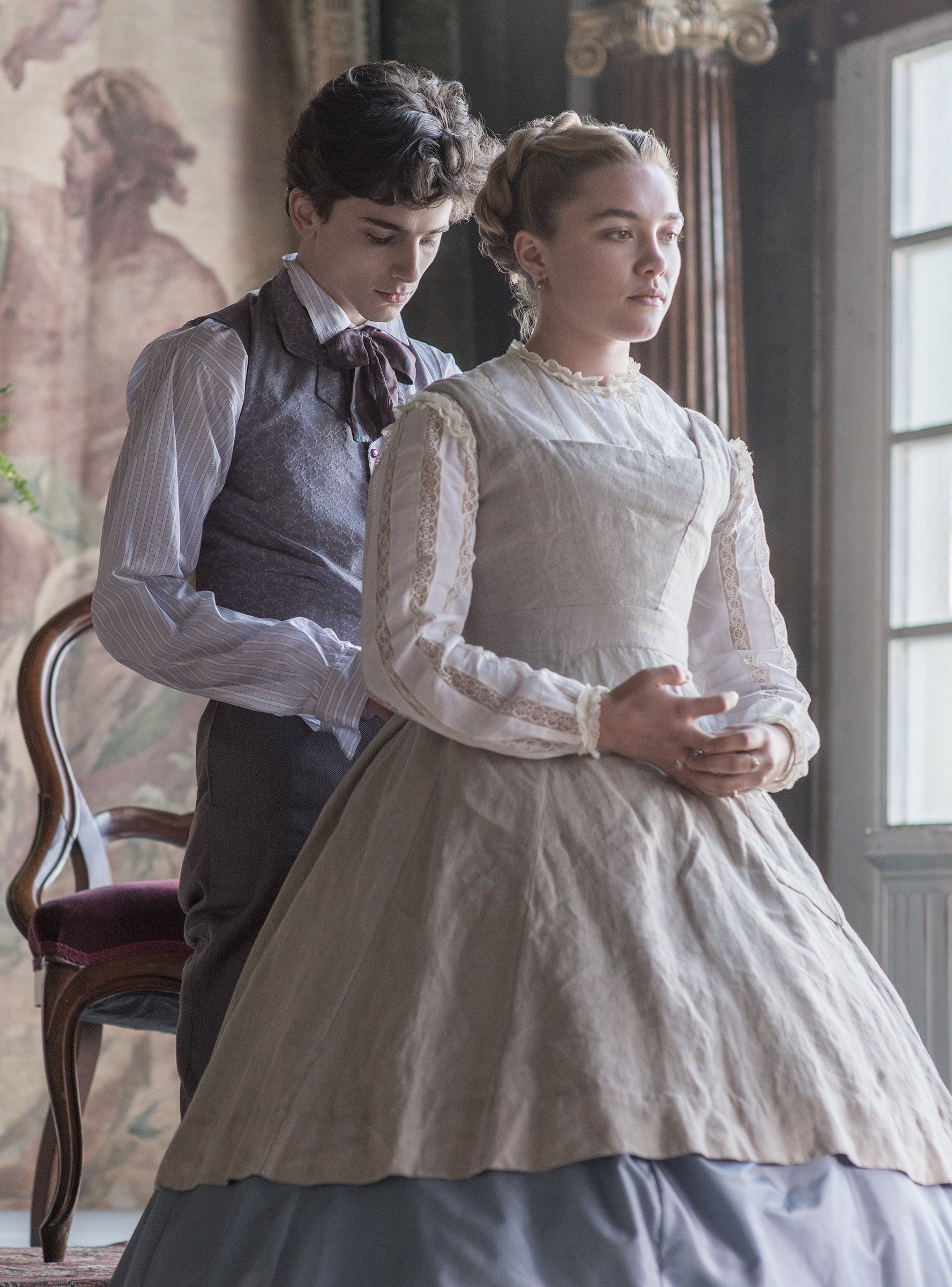 Christian Bale Has Broken His Silence On Timothée Chalamet Taking On His Iconic Little Women Role is part of Woman movie, Timothee chalamet, Florence pugh, Costume drama, Women, Movies - Christian Bale starred as Laurie in the 1994 Little Women movie