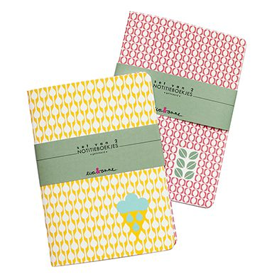 Lovely notebooks by Eva, via www.paperstories.nl