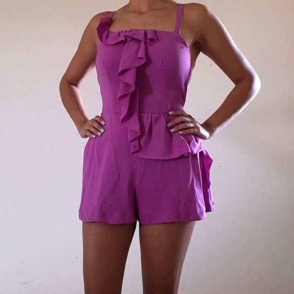 Rachel Roy Romper Brand new, dressy Rachael Roy romper. 100% polyester Rachel Roy Dresses