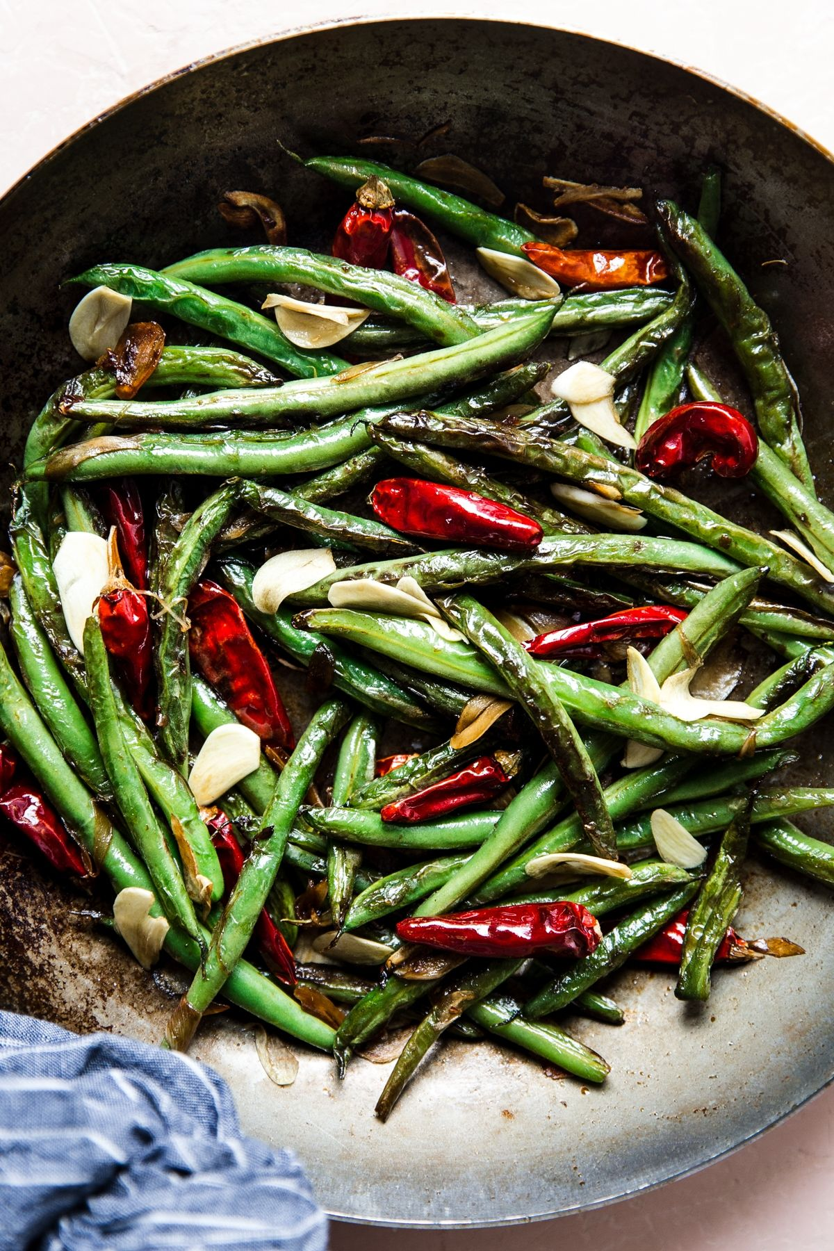 Chinese Dry-Fried Green Beans #greenbean