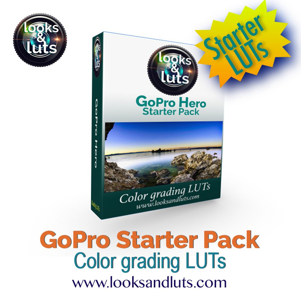 GoPro Hero Starter Pack with 18 Luts for your color grading