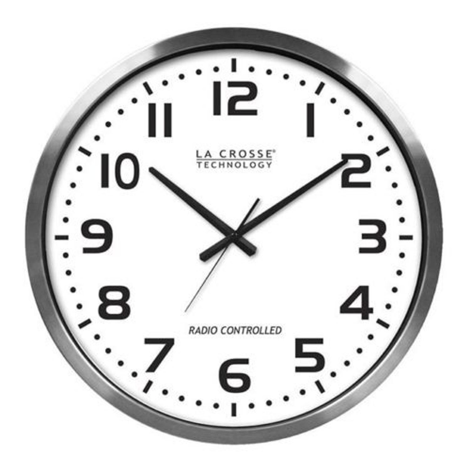Large atomic wall clock analog 12 hour minute second hands 20 inch large atomic wall clock analog 12 hour minute second hands 20 inch easy read new amipublicfo Image collections