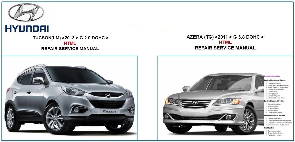 hyundai tucson 2013 azera 2011 repair service manual hyundai rh pinterest com Factory Auto Service Manuals Product Service Manuals Motorcycle