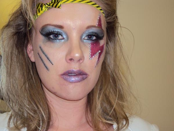 80s Rock Makeup Haar Opsteken Schminken Haar