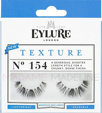 0e6d8cc0e34 Eylure Naturalites TEXTURE N° 154 Strip Lashes has a generous, shorter  length style for a chunky, dense finish. This set offers light weight  lashes, ...