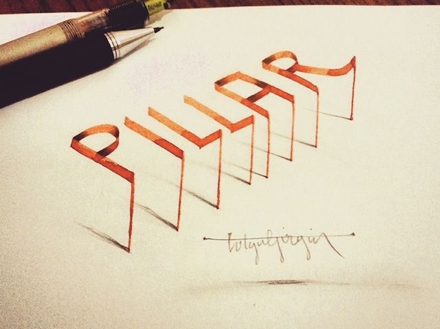 30 Mind Boggling 3D Calligraphy Examples By Tolga Girgin   3d