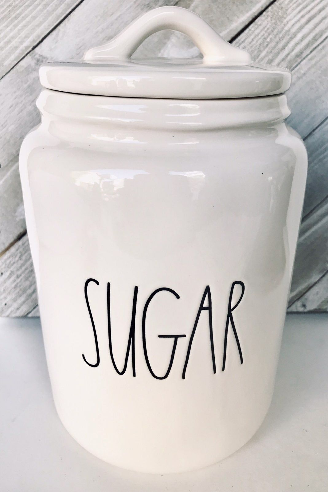 Rae Dunn Sugar Canister By Magenta Large Letter Ll Htf Large Huge Brand New Items Never Used May Get Hot In Mi Rae Dunn Collection Rae Dunn Sugar Canister