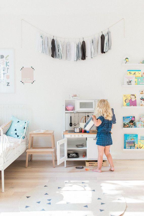 modern pastel shared kids room