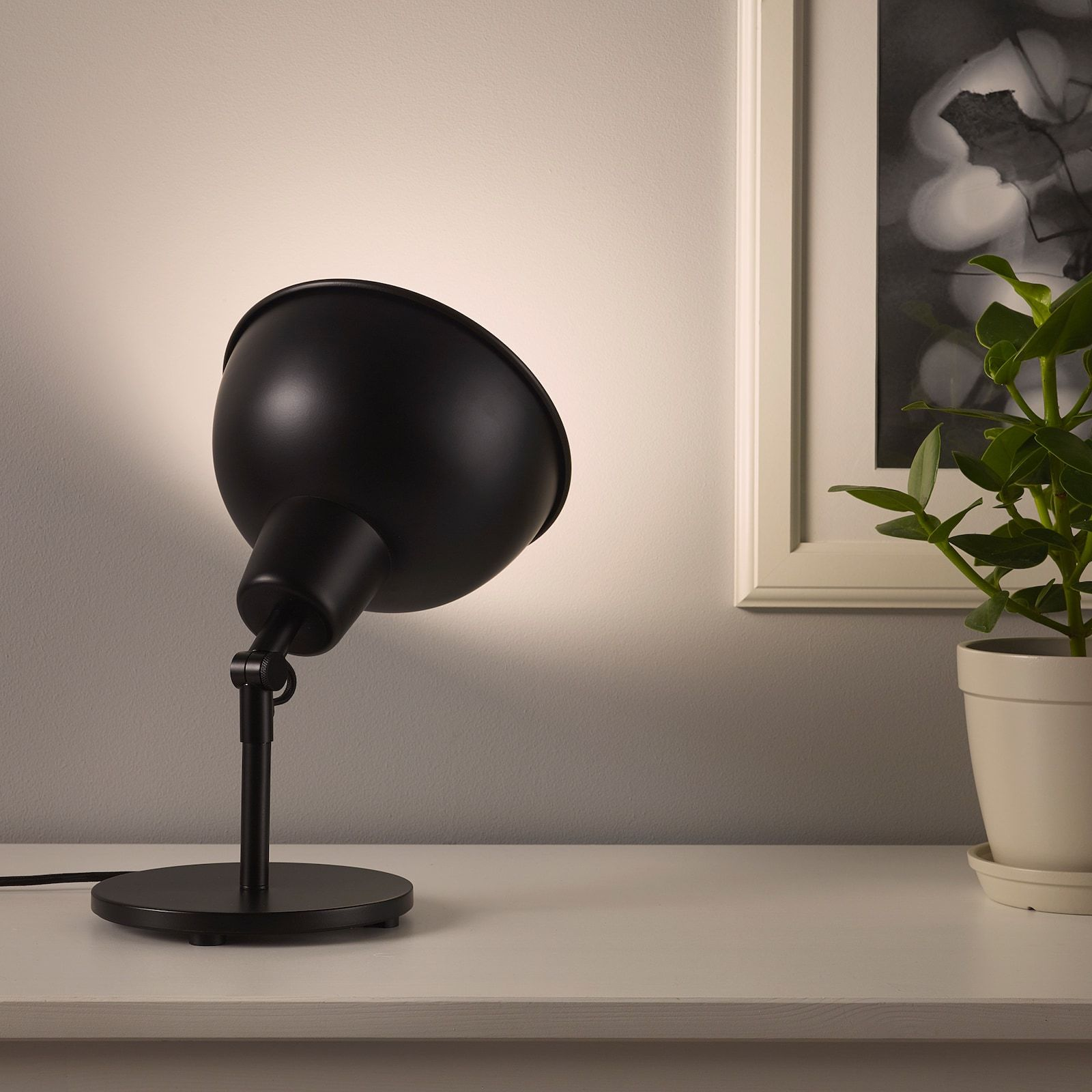 SKURUP Table/wall uplight with LED bulb, black IKEA in