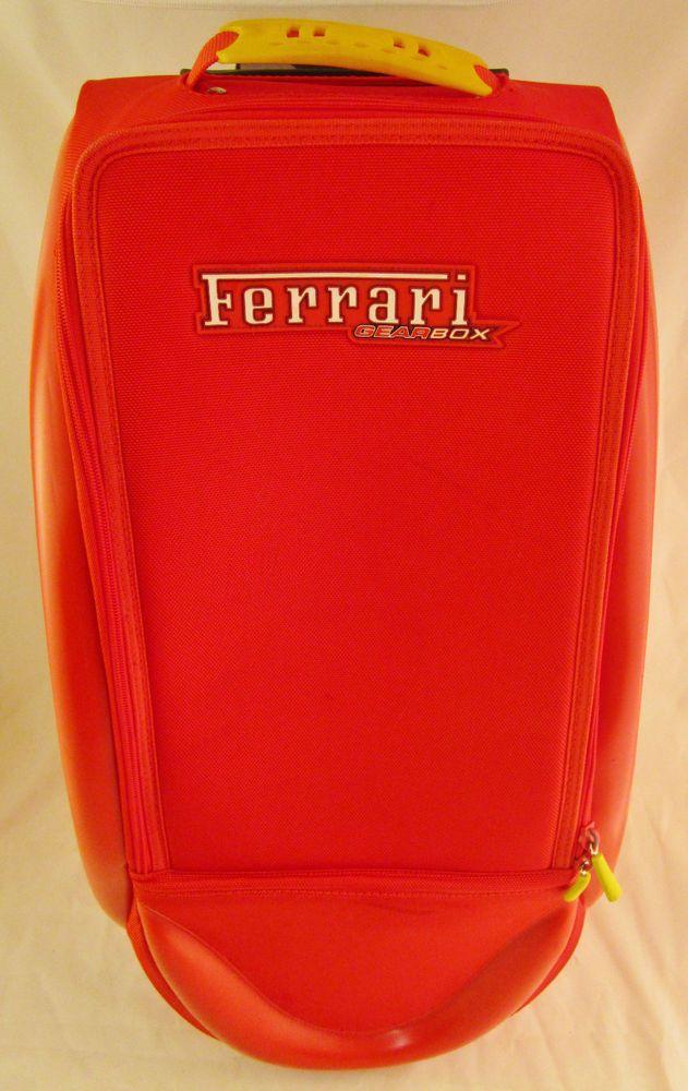 Ferrari Gearbox Trolley Red Suitcase / Travel Bag Functional as-is w/ scuffs #ferrari