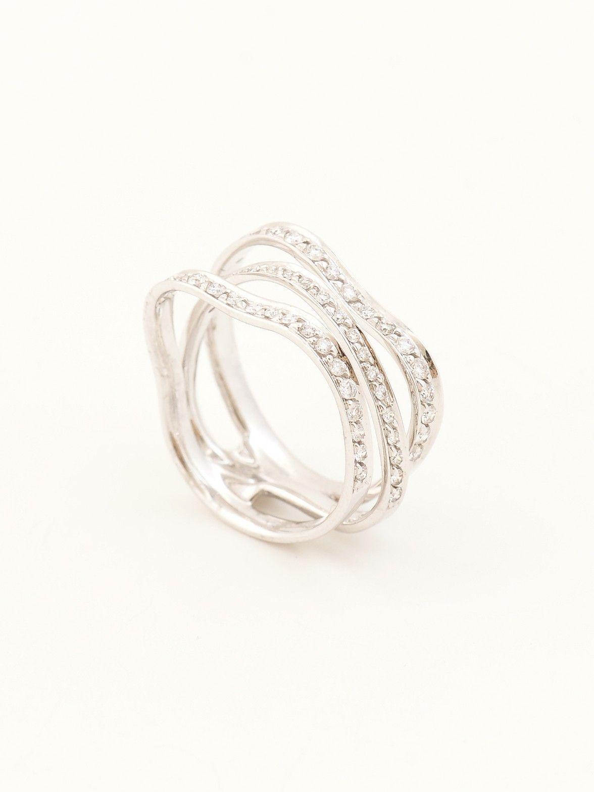 H.Stern Oscar Niemeyer Diamond Ring - H.Stern 18k White Gold Oscar ...