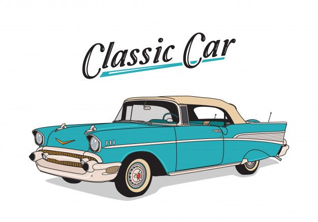 Hand Drawn Classic Car