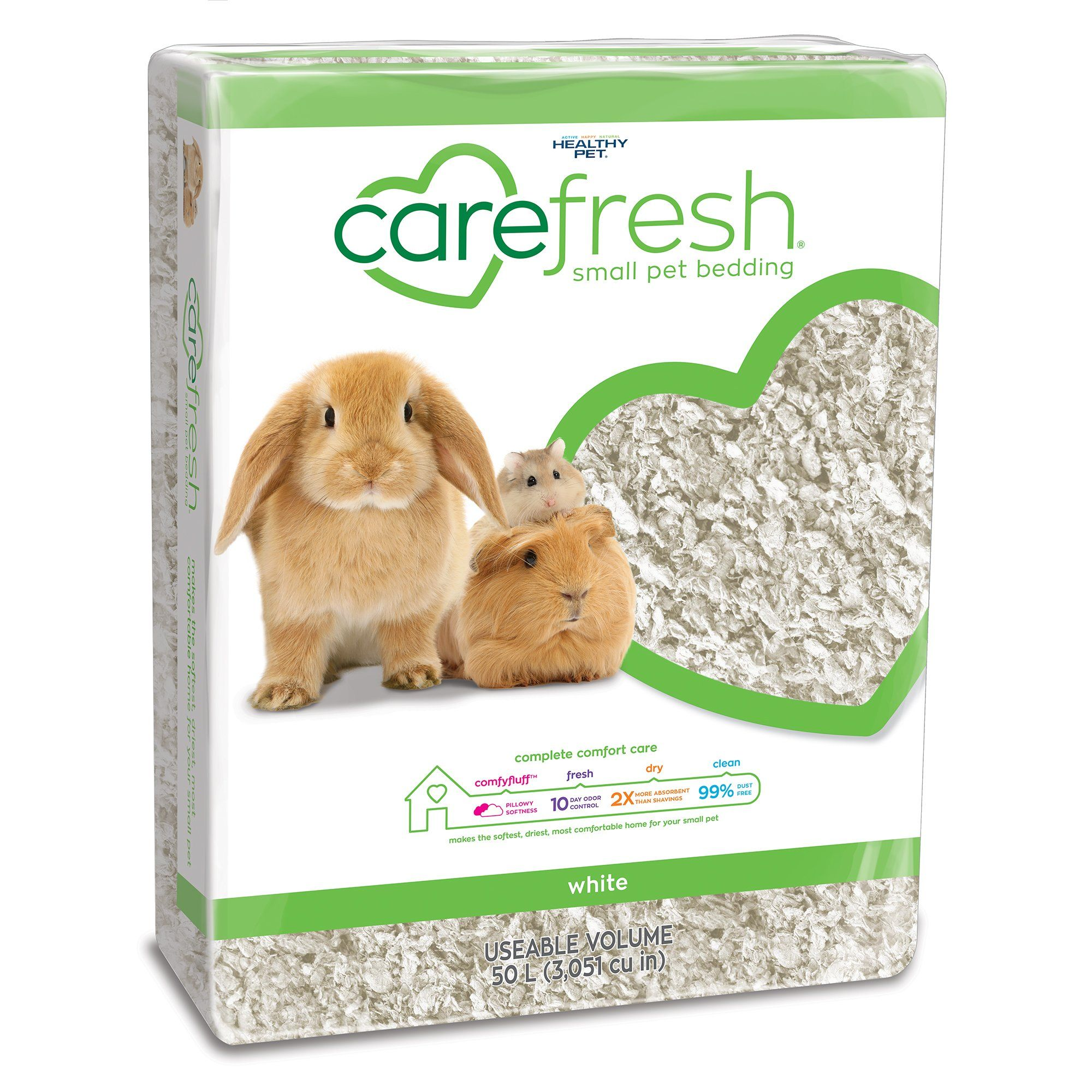 Carefresh White Small Pet Bedding, 50 Liter Hamster