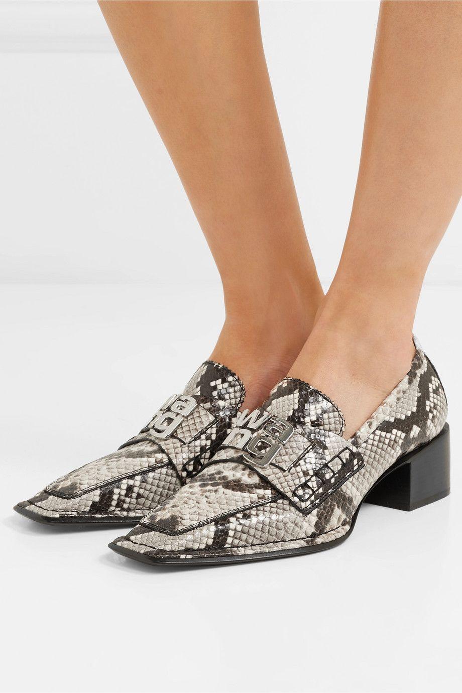 Snake Print Parker Embellished Snake Effect Leather Pumps Alexander Wang Leather Pumps Trending Shoes Women Shoes