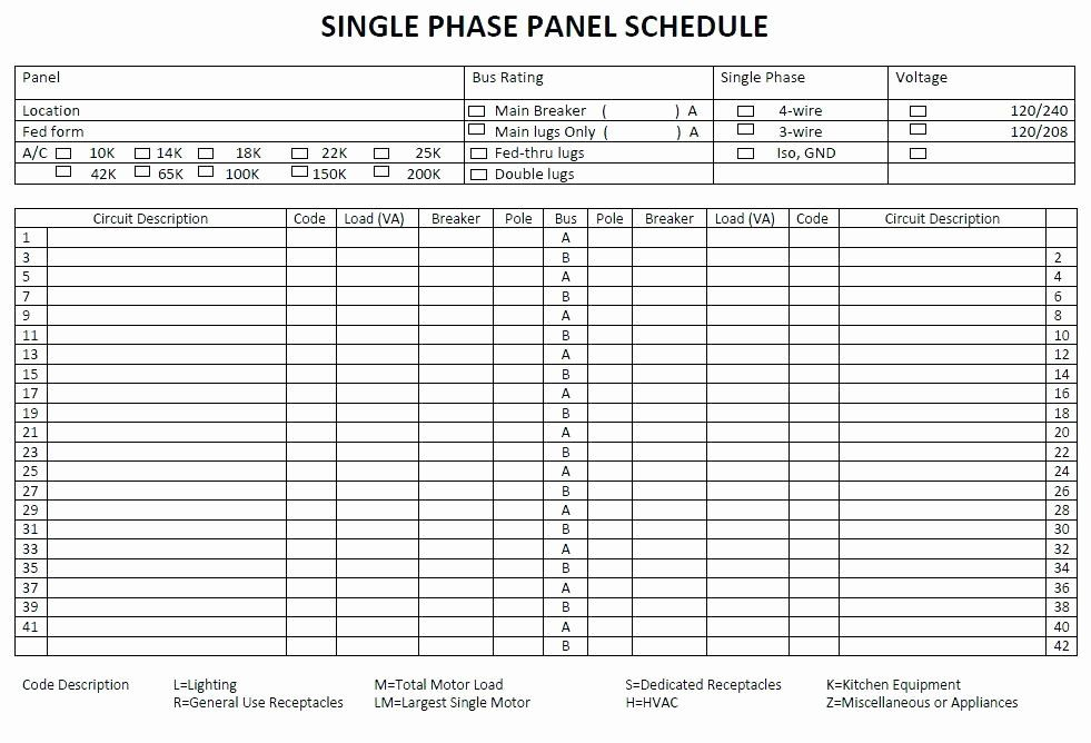 Electrical Panel Schedule Template Excel Awesome Electrical Panel Circuit Directory Template Awesome Lovely Label Templates Schedule Template Electrical Panel