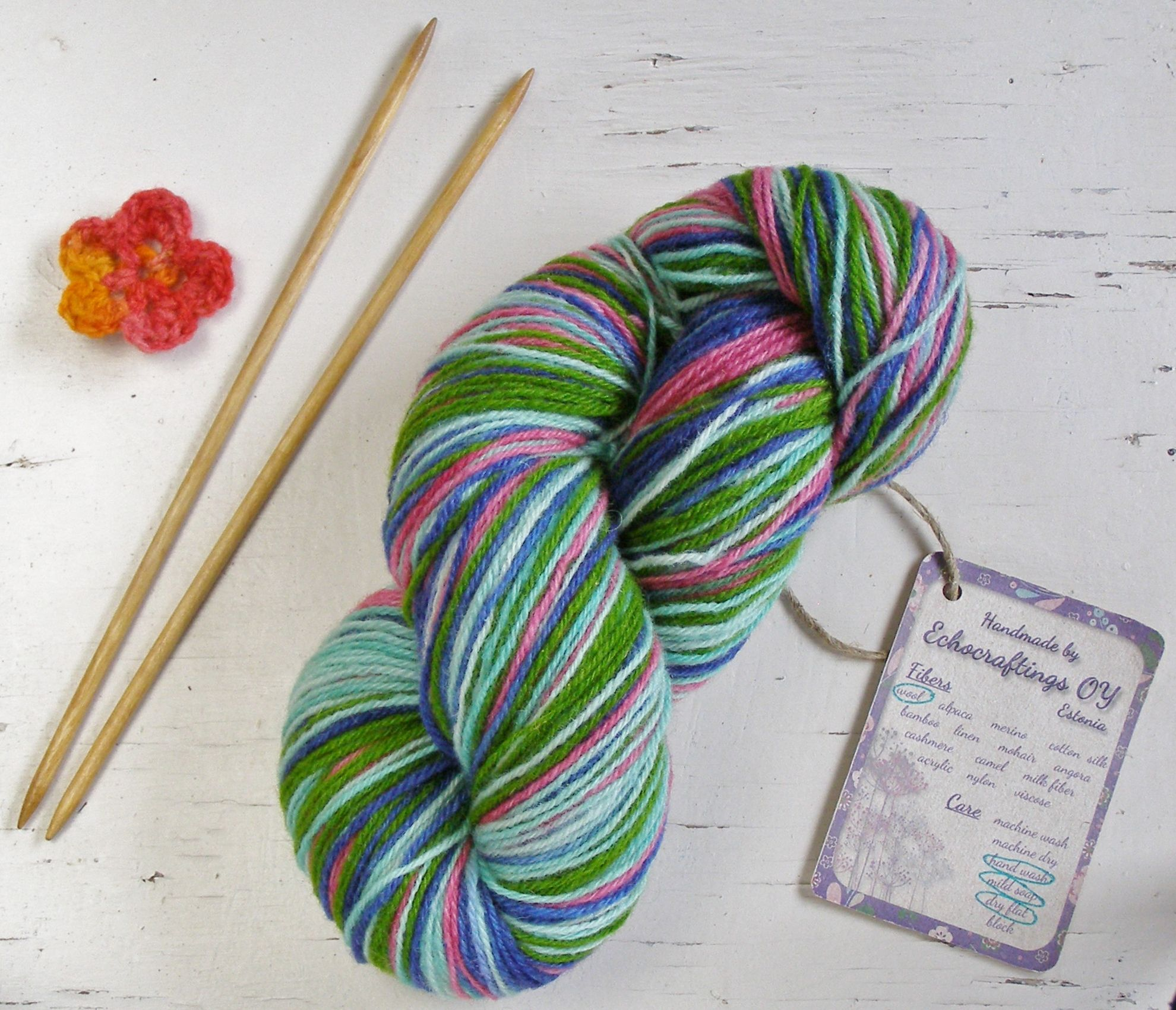 Crochet Supplies Estonian Wool Present Under 15 Mint Green Knitting Kit Craft Supply Wool Yarn Present For Granny Long Yarn Etsy Crafts Hand Dyed Yarn