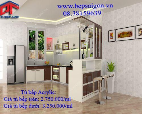 Tủ bếp, tu bep, tủ bếp mfc, tủ bếp acrylic, tủ bếp gỗ