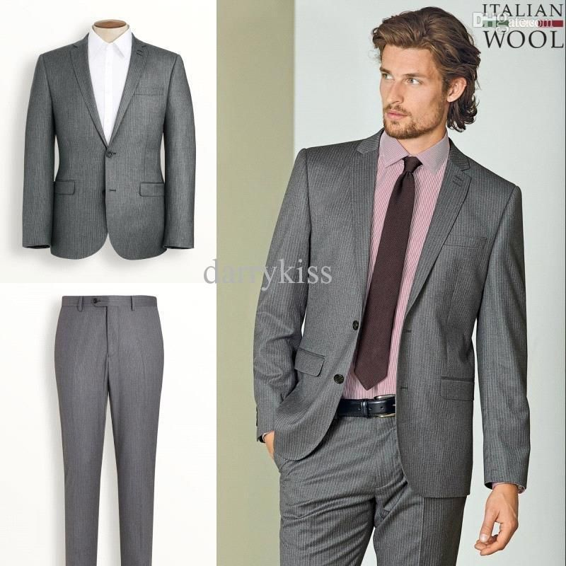 Cheap 2014 Men Suit - Discount Mens Suit Blazers Groom Tuxedos ...