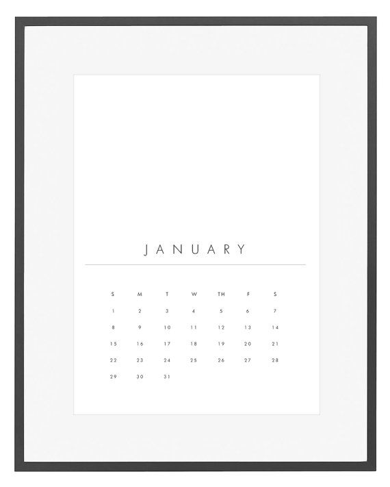 Minimalist Calendar Template : Printable calendar