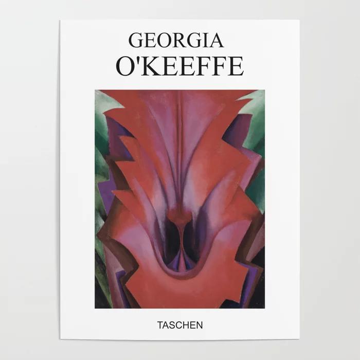 georgia o keeffe art exhibition poster