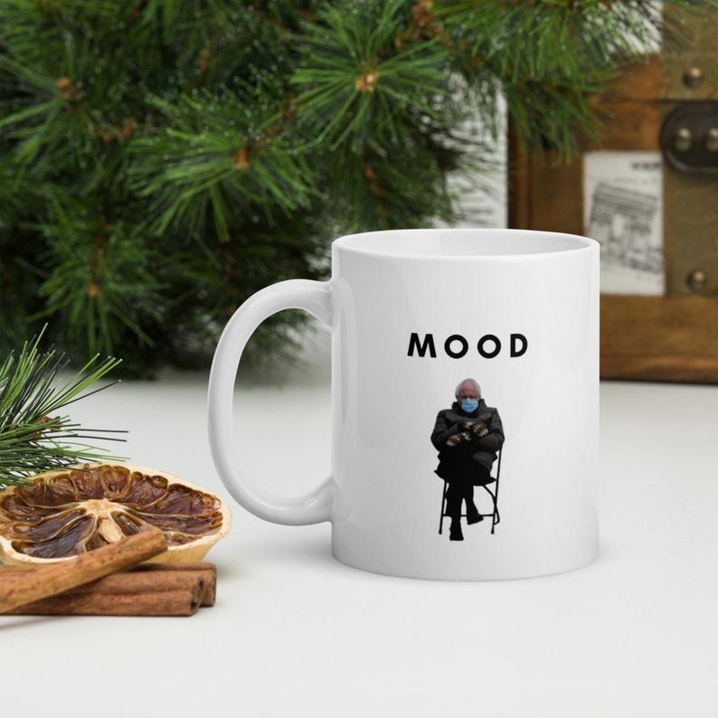 Bernie Sanders Iconic Mittens Coat Coffee Meme Mood Mug Etsy In 2021 Mugs Coffee Cups Christmas Hoodies