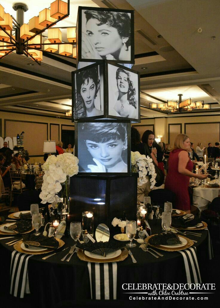 Weddingideas Oldhollywood Audreyhepburn Classy Glam Hollywood Party Theme Hollywood Birthday Parties Old Hollywood Party