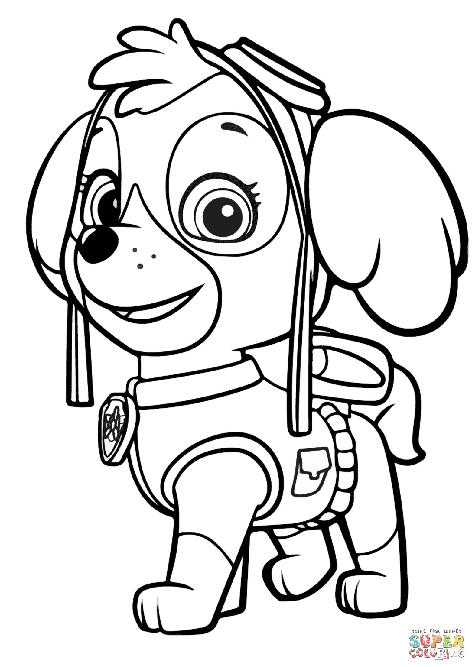 Paw Patrol Coloring Pages Paw Patrol Skye Coloring Page Free