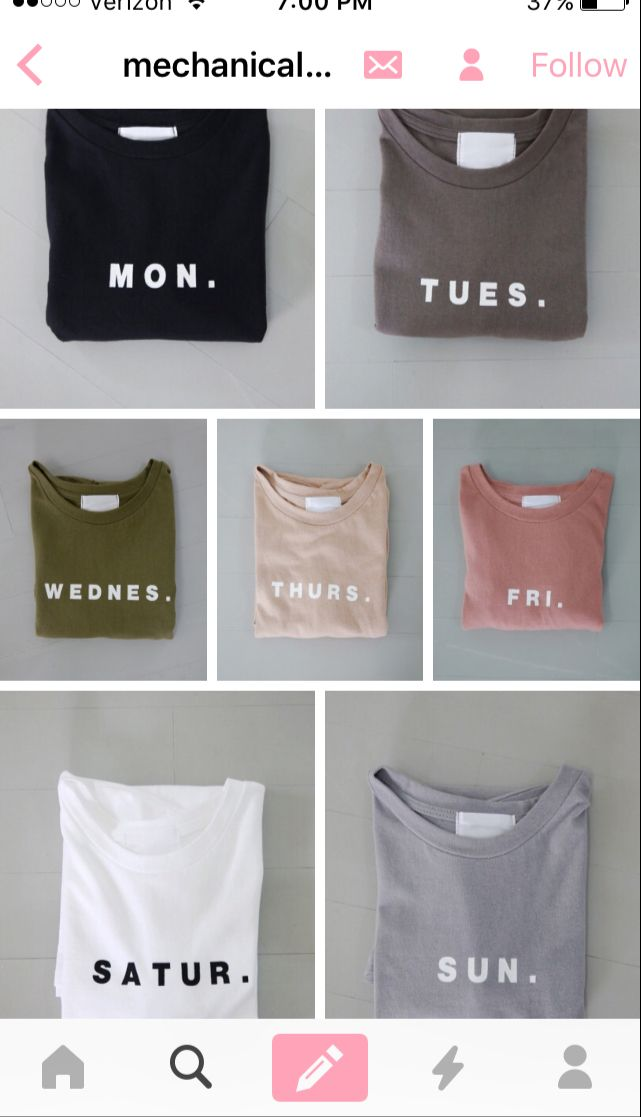 51a66256bc9bf Shirts for each day of the week