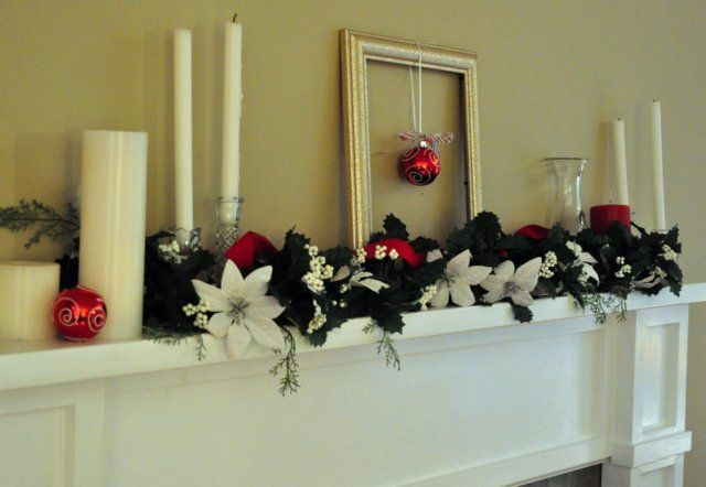 simple Christmas decorations for mantel Christmas decorating - simple christmas decorating ideas