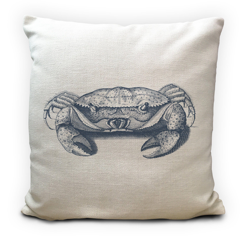 Blue Crab Cushion Cover Beach seaside New England 16