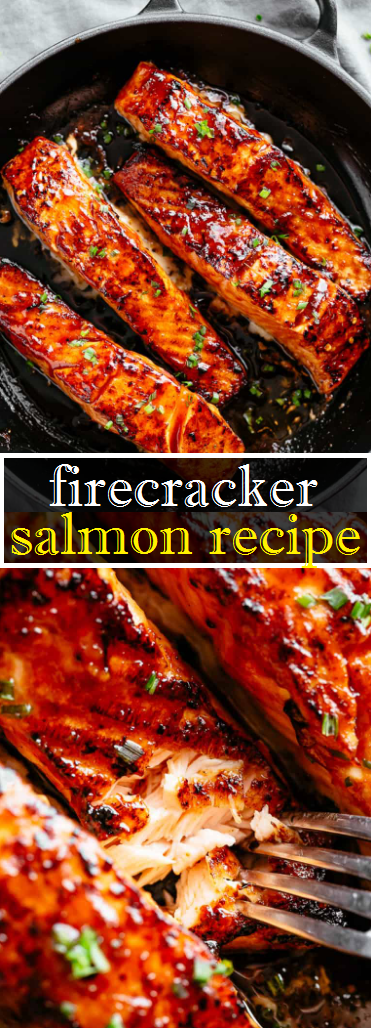 firecracker salmon recipe #pescatarianrecipes