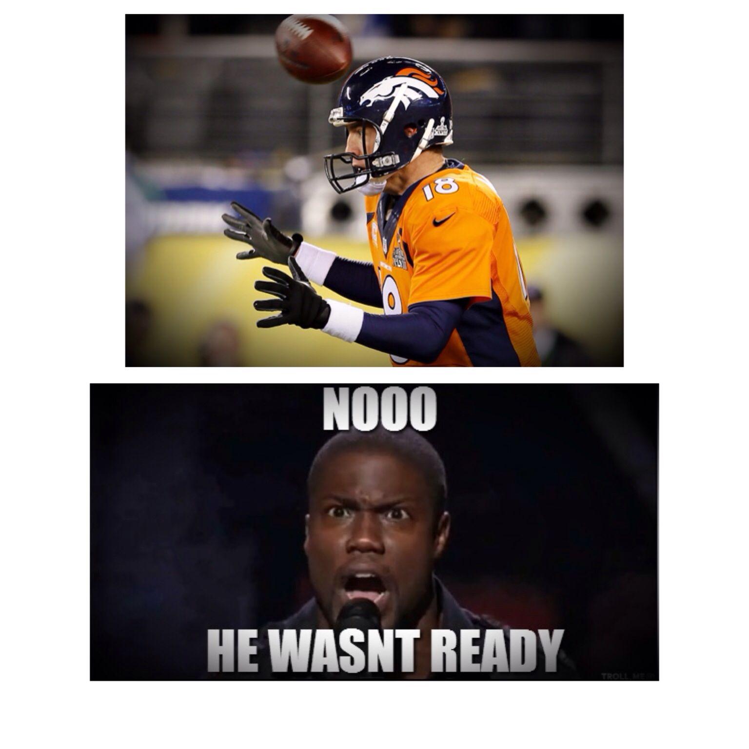 Peyton Manning Kevin Hart Super Bowl 2014 Safety In The First Play Kevin Hart Peyton Manning Manning