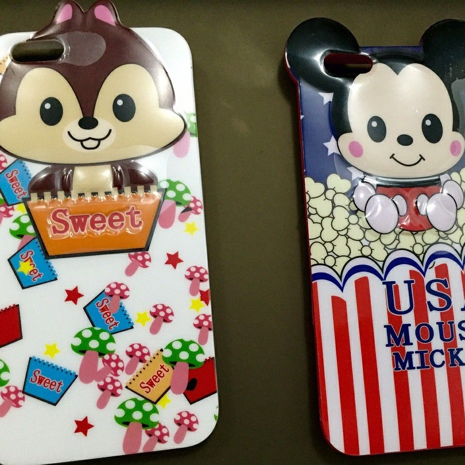 Case soft timbul sweet iphone 6+ ans soft case timbul mickey mouse5/5s/6 . Price ask.me