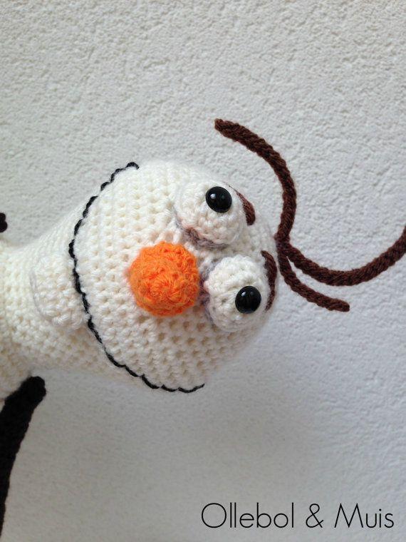 Sneeuwpop gehaakte sneeuwpop cadeau sneeuwman haken pop door Ollebol, €27.50 SOLD