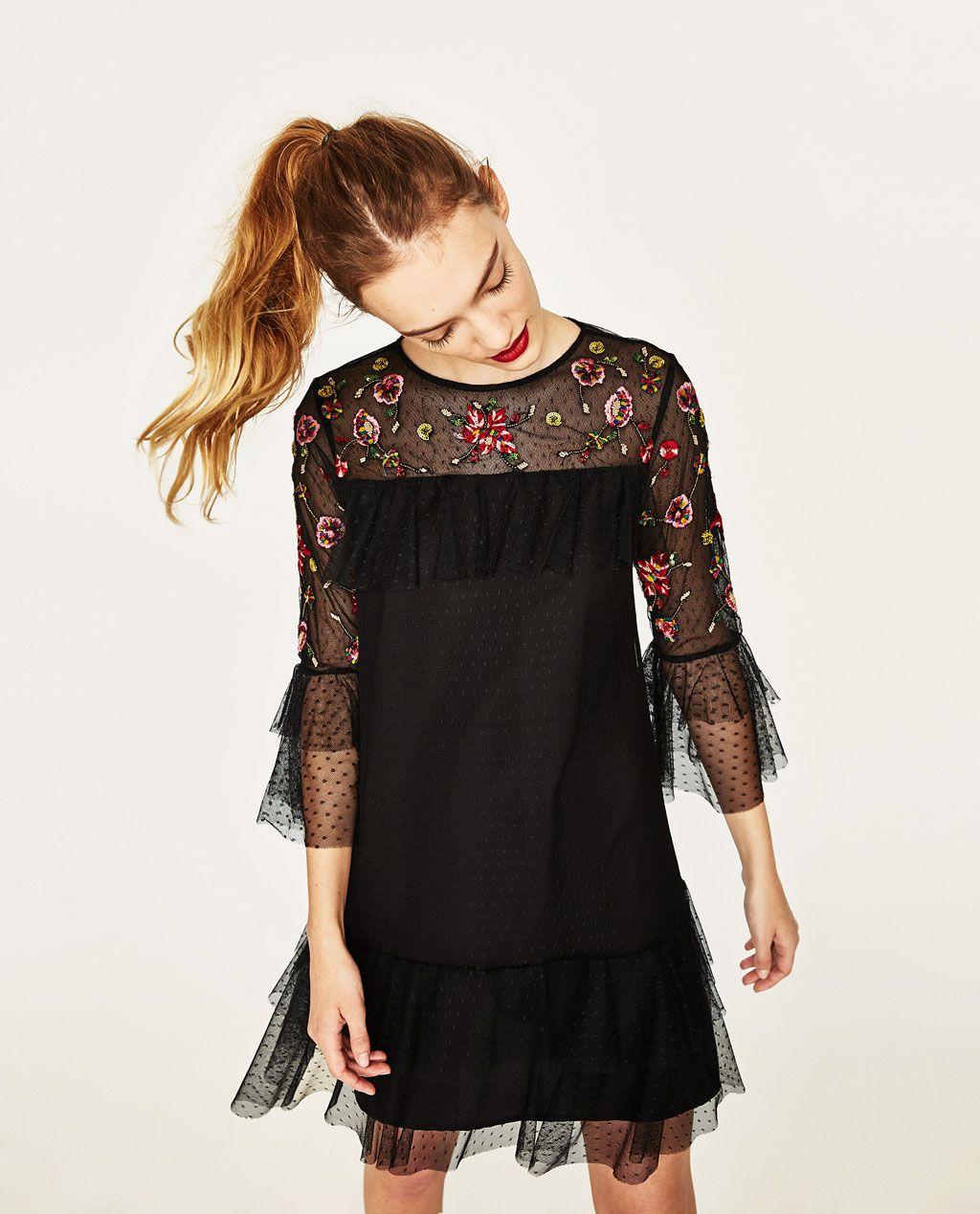 Imagen de vestido bordado tull de zara proyectos de costura