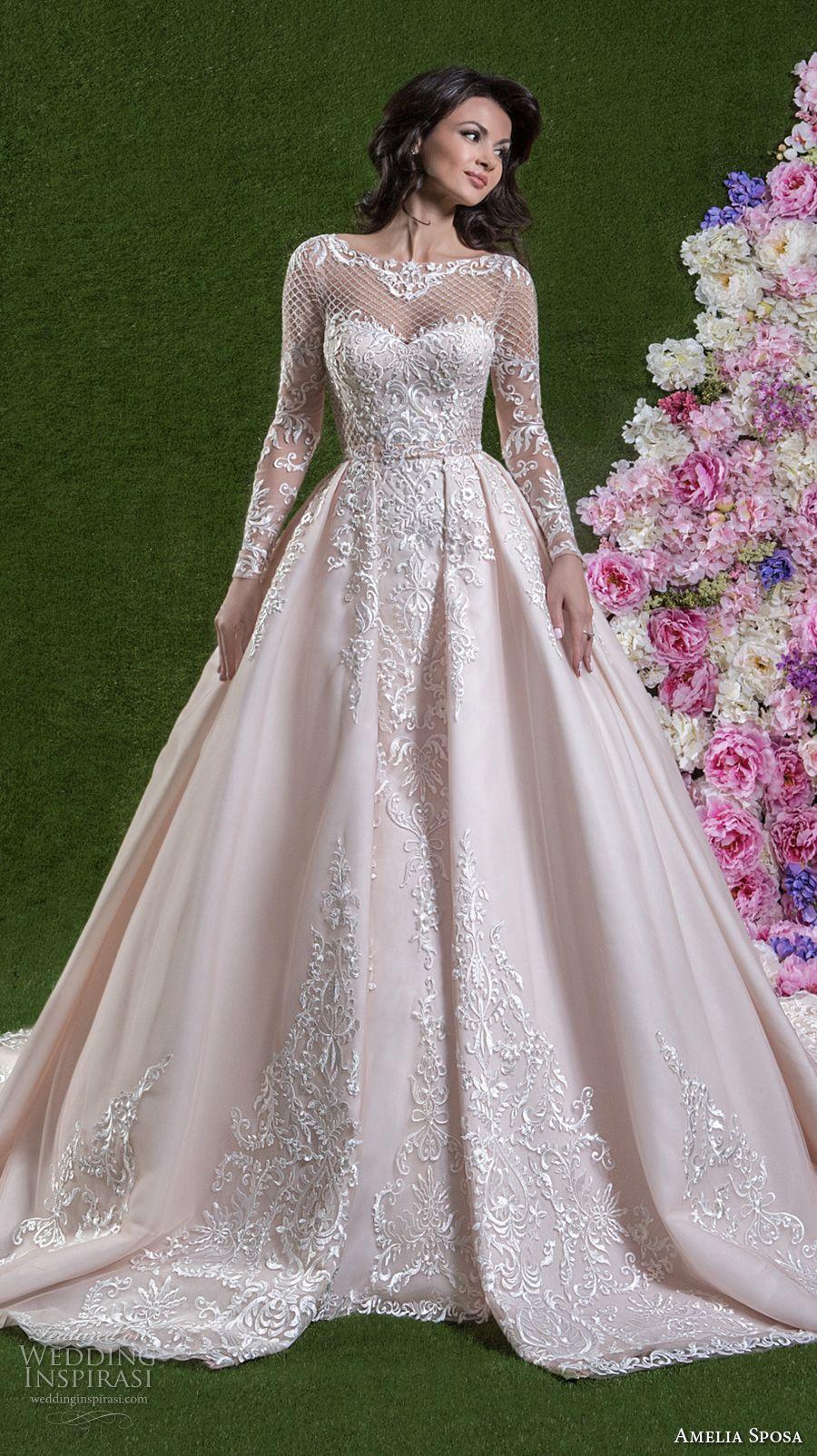 Amelia Sposa 2018 Wedding Dresses Wedding Inspirasi Wedding Dresses Pink Wedding Dresses Wedding Dresses Lace Ballgown
