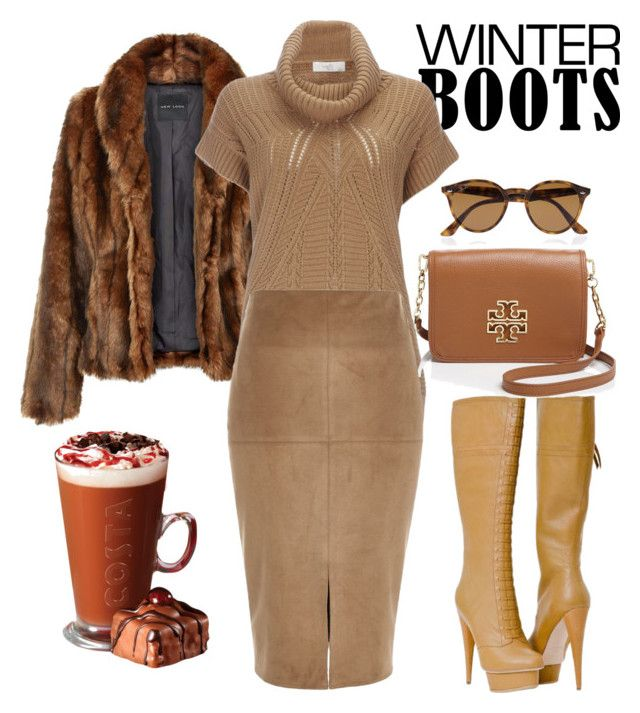 """""""Cozy Winter Outfit"""" by brandonandrews500 ❤ liked on Polyvore featuring Wallis, Paolo Shoes, Tory Burch, Ray-Ban and River Island"""