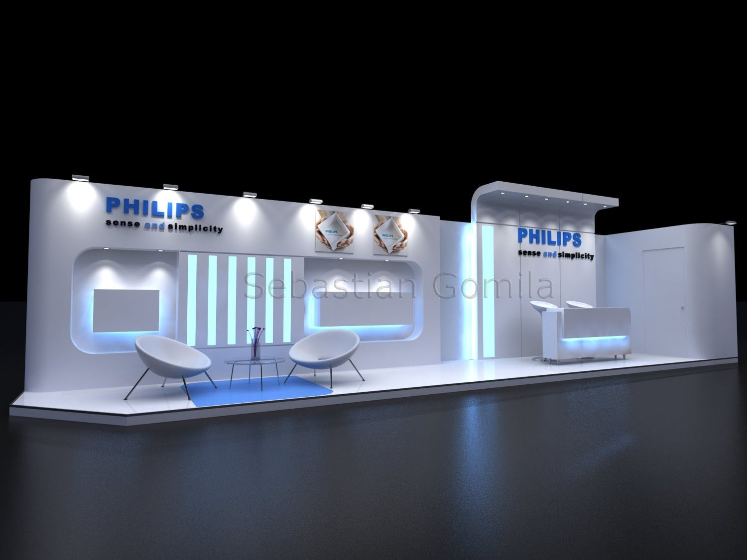 Stand philips exhibition pinterest exhibitions for Expo stand