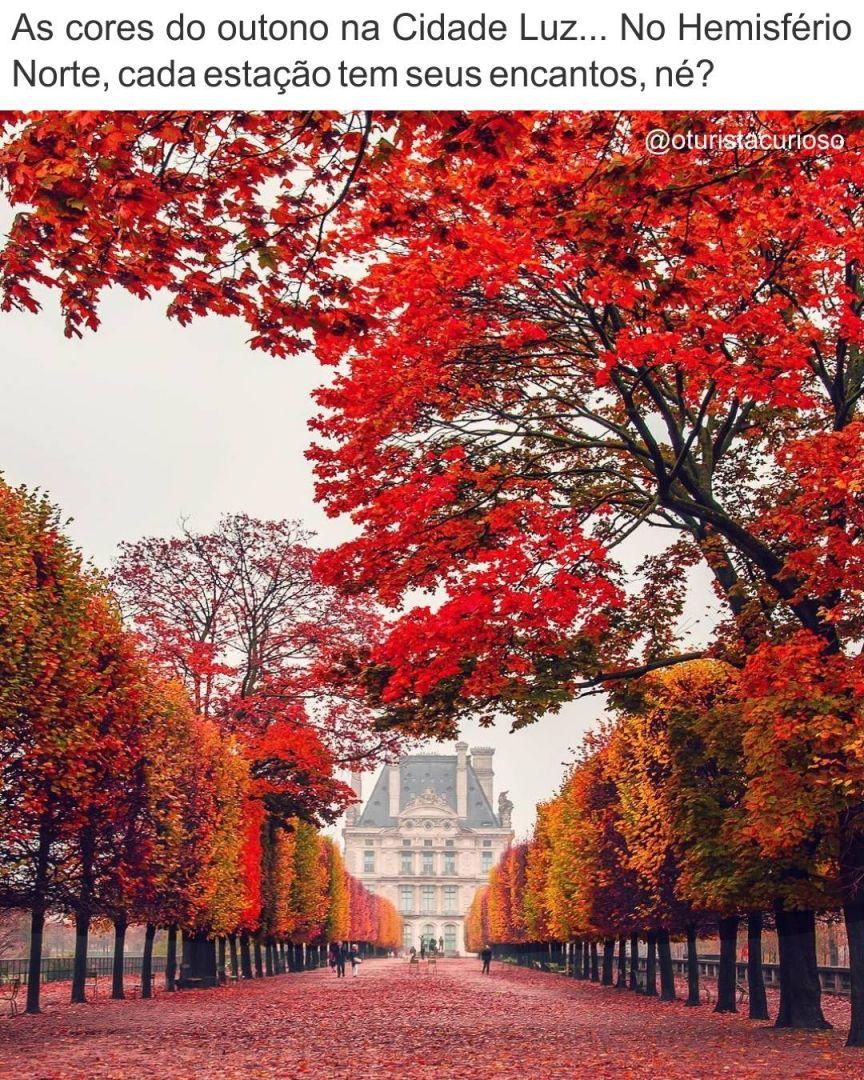 Coisa Linda As Cores Do Outono Em Paris O Outono Por La Comeca