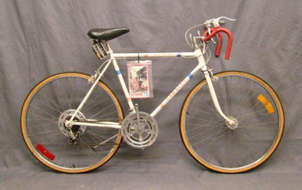 0d48efedc81 Bicentennial Schwinn varsity. Redo color scheme. Black instead of white  frame. Black wheels and spokes. Red handlebar tape. Original decals. Brooks  saddle.
