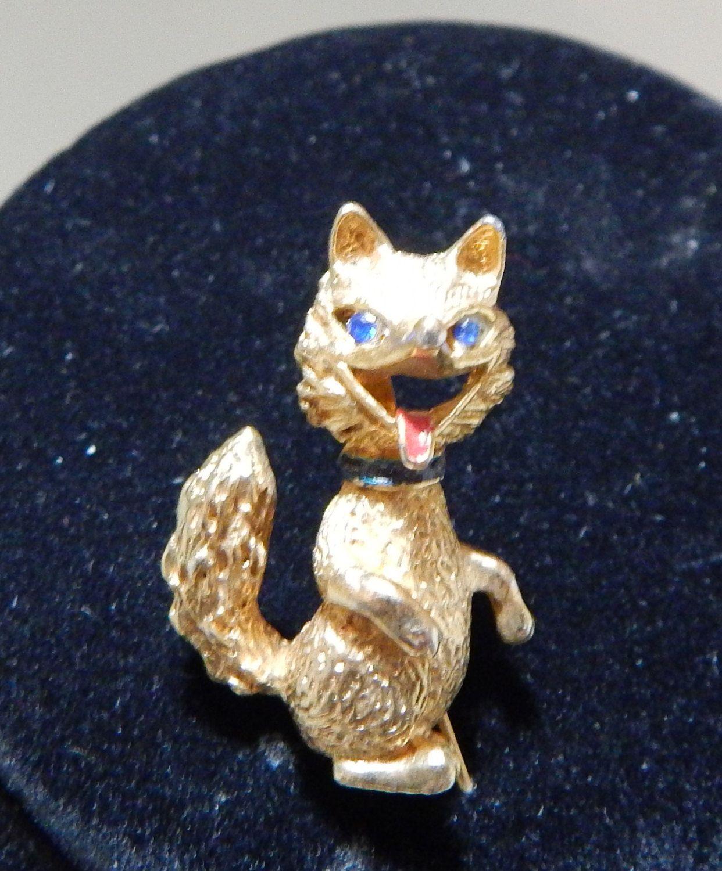 Vintage Red Squirrel Pin c