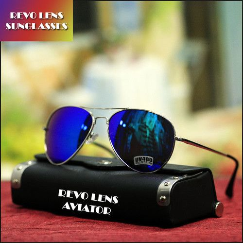 Fashion Aviator Sunglasses Driving Green Purple Mix Mirror Lens Silver Frame New