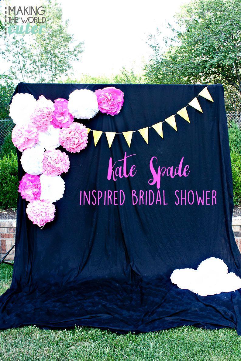 kate spade inspired bridal shower bridal shower ideas pinterest faire la f te evjf et la. Black Bedroom Furniture Sets. Home Design Ideas