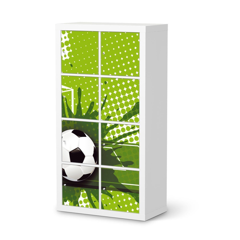 Wohnideen Jugendzimmer Fussball fußballzimmer soccer room dekor folie für ikea kallax regal 8