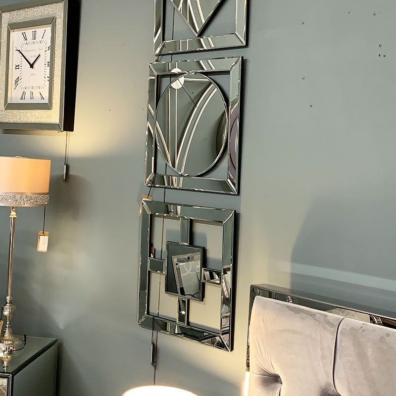 small square mirror wall art 40cm on mirror wall id=94794