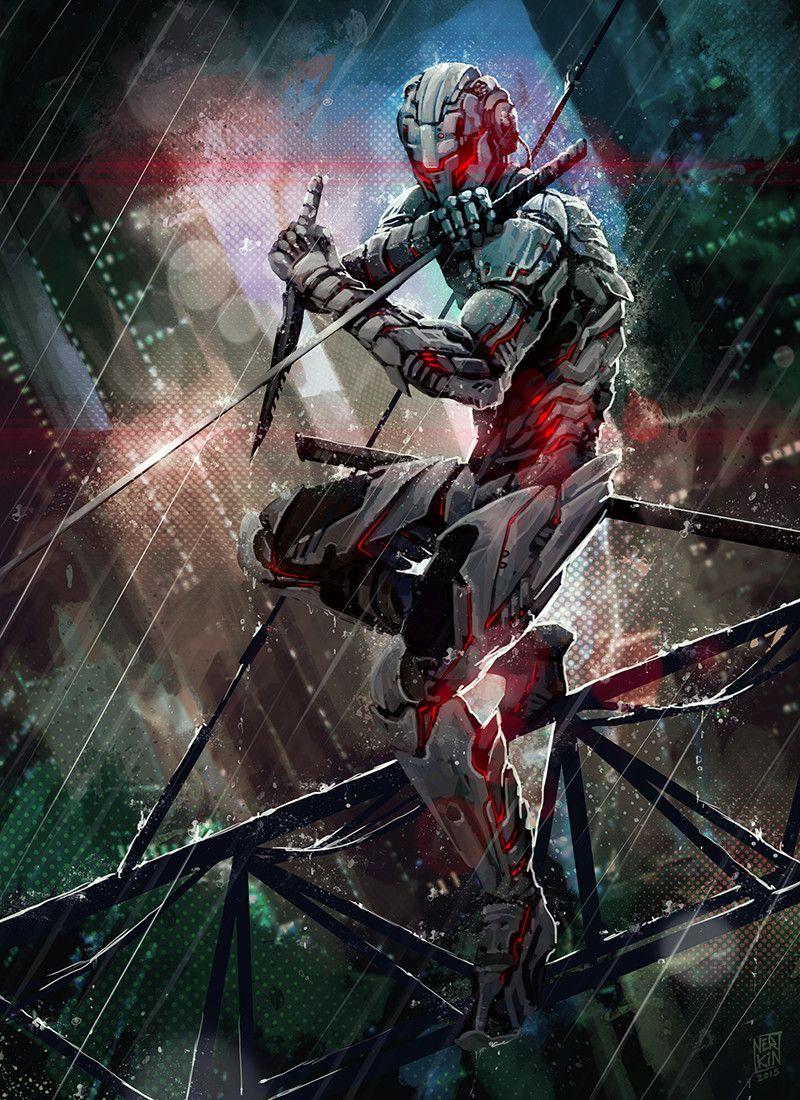 Scifi Fantasy Horror Com Ninja Art Concept Art Characters