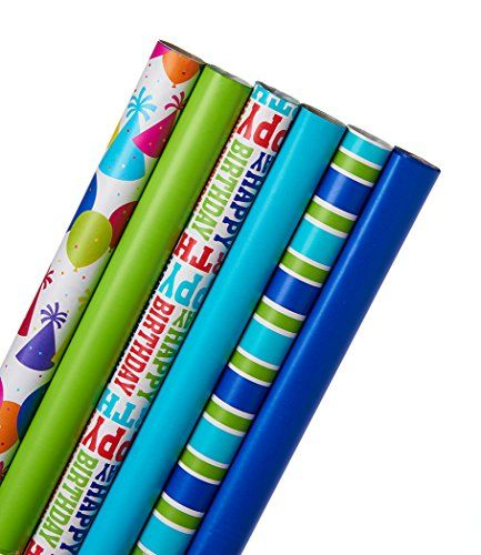 American greetings birthday wrapping paper bundle multicolor for american greetings birthday wrapping paper bundle multicolor for more information visit image m4hsunfo
