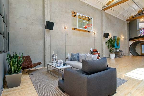 basketball hoop in my loft space? yes please!!!!! this loft in, Innenarchitektur ideen