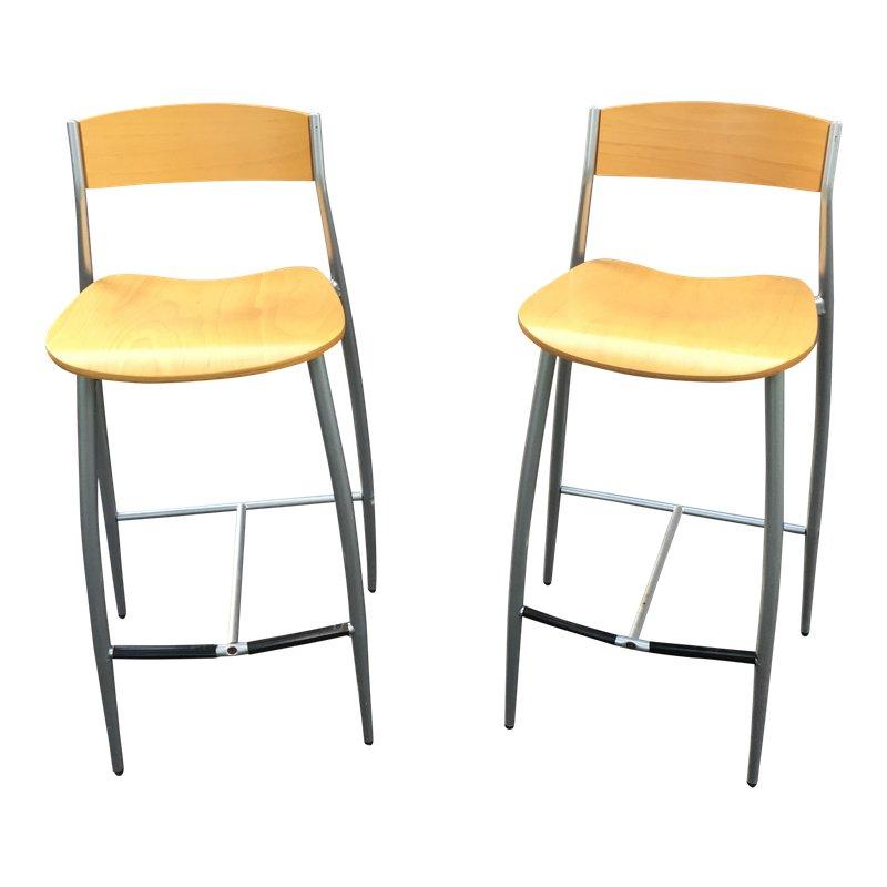 Strange Design Within Reach Modern Baba Bar Stools A Pair Theyellowbook Wood Chair Design Ideas Theyellowbookinfo