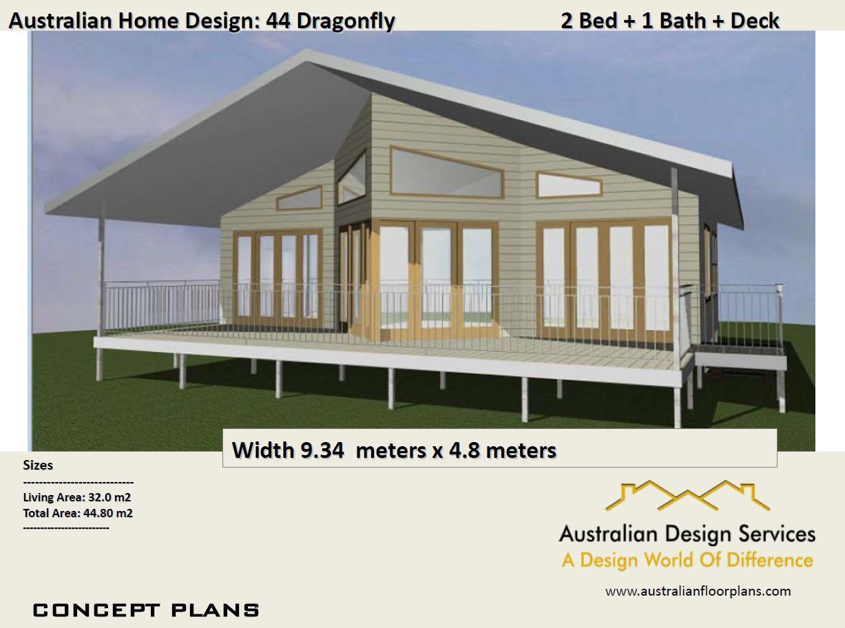 44 Dragonfly 44m2 2 Bed Study Nook Home Design Concept House Plans For Sale By Modern Style House Plans House Plans For Sale House Plans Australia